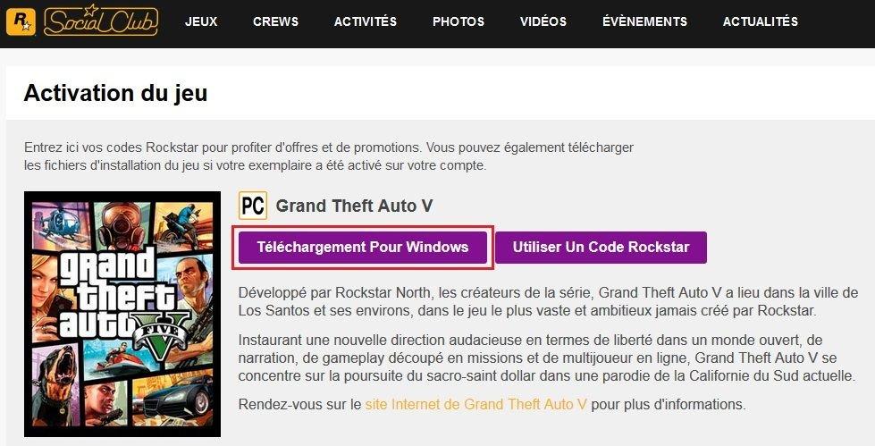 Téléchargement Grand Theft Auto V